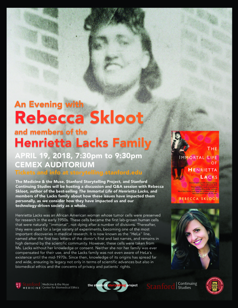 Skloot and Lacks Family Poster