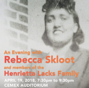 Henrietta Lacks event poster