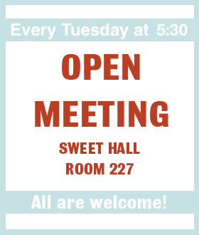 Open Meeting, every Tuesday at 5:30